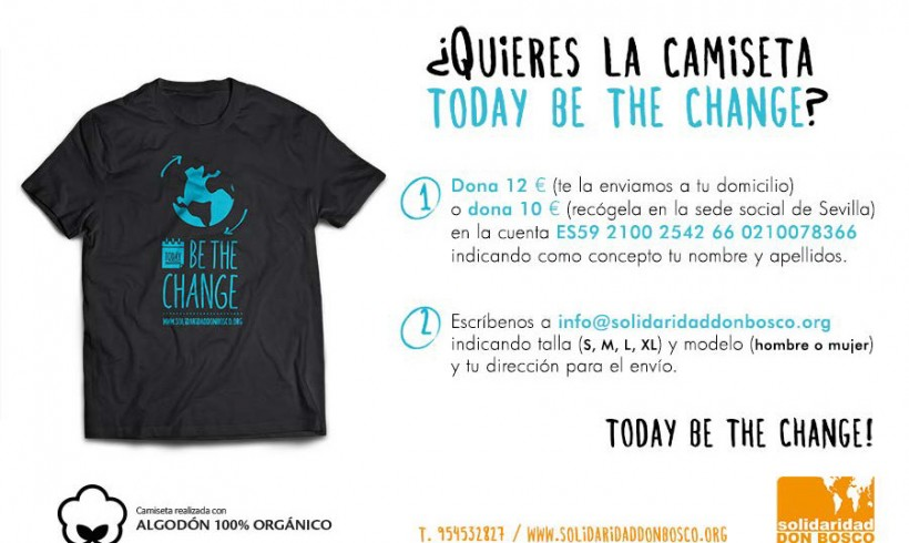 "Camisetas ""Today be the change"""