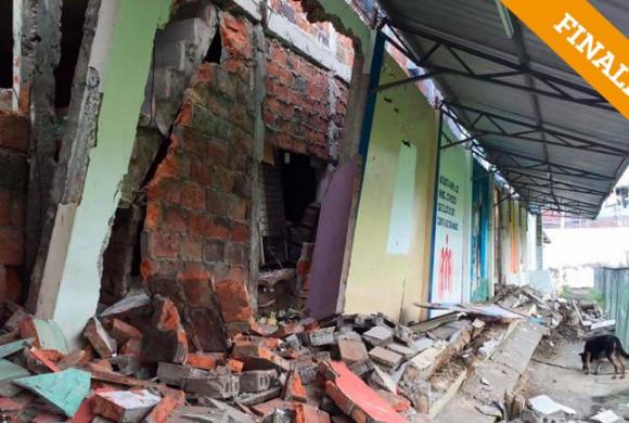 Reconstrucción, post-terremoto, de instalaciones del Colegio San José de Manta – Ecuador