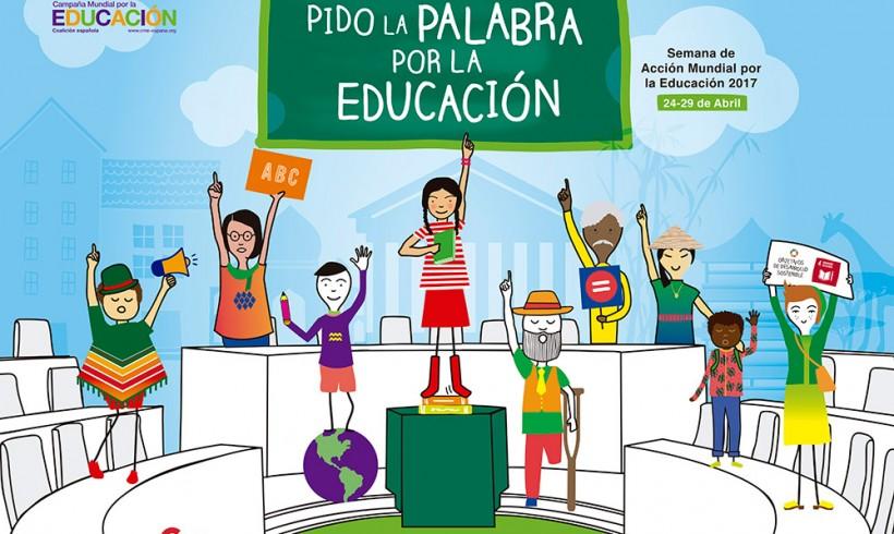 """""""Pido la palabra por la Educación"""", Semana de Acción Mundial por la Educación"""