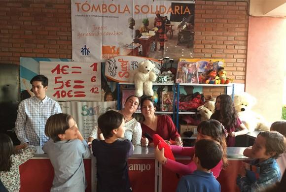 Tómbola Solidaria en el colegio Ramón Izquierdo de Badajoz