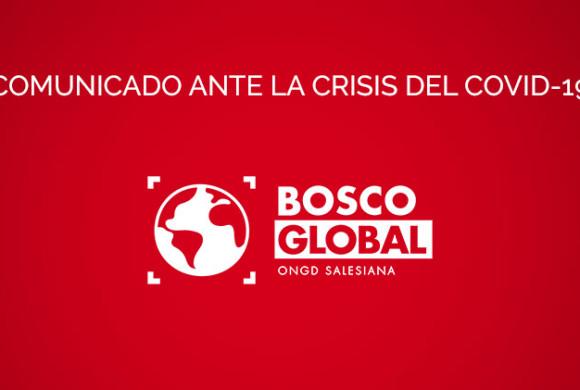 Comunicado de Bosco Global ante la crisis del coronavirus